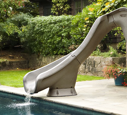 Typhoon pool slide from austral pool spa products - Swimming pools with slides north west ...